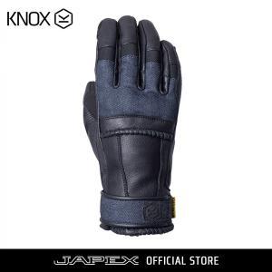 バイク用プロテクショングローブ ノックス ウィップ ブラック/デニム(日本正規代理店) KNOX Whip|japex