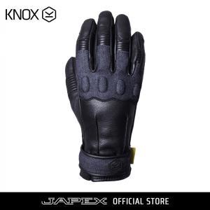 バイク用プロテクショングローブ ノックス ウェーブ ブラック/デニム(日本正規代理店) KNOX Wave|japex