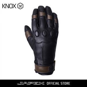 バイク用プロテクショングローブ ノックス ウェーブ ブラック/ブラウン(日本正規代理店) KNOX Wave|japex