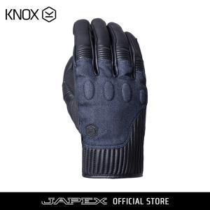 バイク用プロテクショングローブ ノックス ハンブリー ブラック/デニム(日本正規代理店) KNOX Hanbury|japex