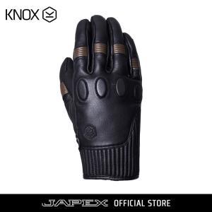 バイク用プロテクショングローブ ノックス ハンブリー ブラック/ブラウン(日本正規代理店) KNOX Hanbury|japex