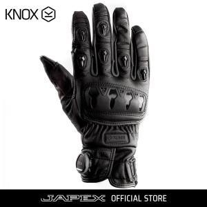 バイク用プロテクショングローブ ノックス オルサレザー ブラック(日本正規代理店) KNOX ORSA Leather|japex