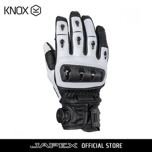 バイク用プロテクショングローブ ノックス オルサレザー ホワイト(日本正規代理店) KNOX ORSA Leather|japex
