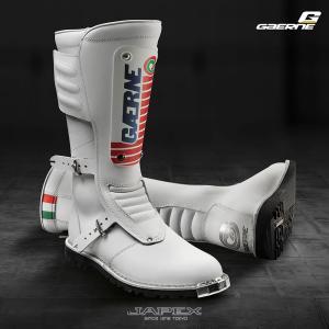 ガエルネ GAERNE バイクブーツ オフロードブーツ VMX ビンテージ モトクロス イタリア製 GMX マッハ80 / GMX MACH80 ホワイト|japex
