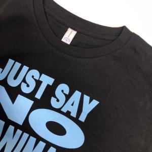 メッセージTシャツ/黒×ブルー(Mサイズ)|java-goodsstore|02