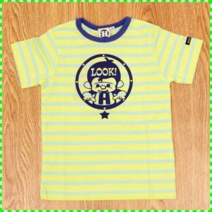 ハウディドゥーディーズ HOWDY DOODY'S 優しい色合いのボーダーTシャツ。プリントはグリボ...