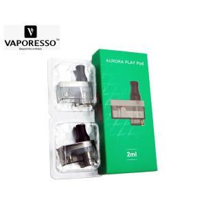 Vaporesso Aurora Play Pod 2ml ベポレッソ オーロラ プレイ 交換 ポッド カートリッジ 2個入り 電子タバコ|jct-vape