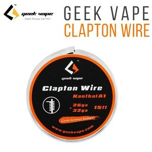 Clapton Wire Kanthal A1 26ga+32ga(15ft) GEEK VAPE カンタル クラプトン ワイヤー 電子タバコ VAPE ビルド用|jct-vape