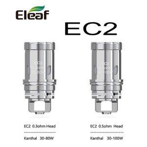 Eleaf EC2 Coil 0.3Ω / 0.5Ω コイルヘッド 5個入り イーリーフ MELO4 電子タバコ|jct-vape