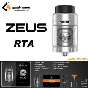 Geek Vape Zeus RTA 25mm 4ml ギークベイプ ゼウス シングルビルド 正規品  電子タバコ|jct-vape
