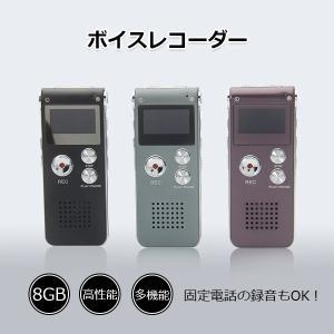 ボイスレコーダー 小型 8GB ICレコーダー 軽量 MP3プレイヤー 多機能 薄型 長時間録音 高性能 使いやすい 3色選ぶ