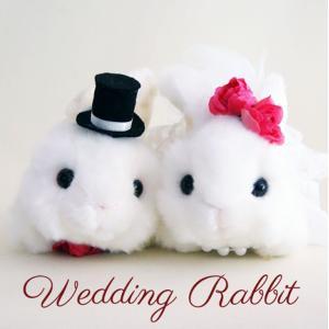 野うさぎホワイト ウサギ ウェディングドール 結婚式ぬいぐるみ ギフト 受付 jd-bridal