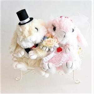 パステルバニー(チェアー付き) ウサギ うさぎ ウェディングドール 結婚式 ぬいぐるみ 結婚祝い jd-bridal