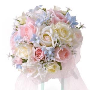 ウェディングブーケ ブライダルブーケ ブーケ造花 結婚式ブーケ  ラウンド jd-bridal
