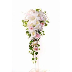 ウェディングブーケ ブライダルブーケ ブーケ造花 結婚式ブーケ キャスケードDX jd-bridal