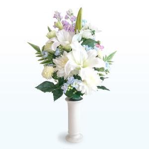 高級カサブランカの仏花(大)【造花】【仏花】【御供】【仏壇】|jd-bridal