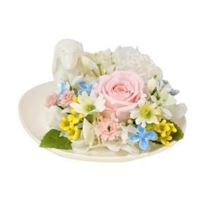 メモリアルフラワー ダックス風 お供え 花、ペットお供え・仏花 わんちゃんFタイプ プリザーブドフラワー ギフト対応|jd-bridal