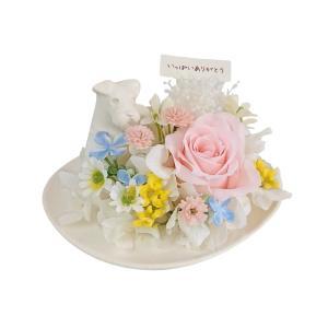 メモリアルフラワー シュナウザー風 お供え 花、ペットお供え・仏花 わんちゃんEタイプ プリザーブドフラワー ギフト対応|jd-bridal