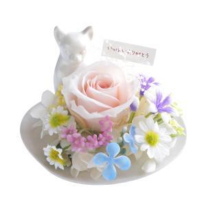 メモリアルフラワー チワワ風 お供え 花、ペットお供え・仏花 わんちゃんBタイプ プリザーブドフラワー ギフト対応|jd-bridal