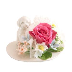 メモリアルフラワー シーズー風 お供え 花、ペットお供え・仏花 わんちゃんDタイプ プリザーブドフラワー ギフト対応|jd-bridal
