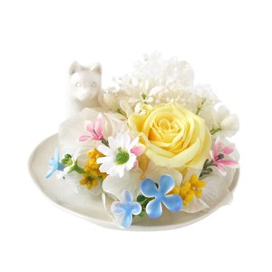 メモリアルフラワー 柴犬風 お供え 花、ペットお供え・仏花 わんちゃんAタイプ プリザーブドフラワー ギフト対応|jd-bridal