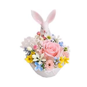 メモリアルフラワー うさぎ お供え 花、ペットお供え・仏花 うさぎAタイプ プリザーブドフラワー ギフト対応|jd-bridal