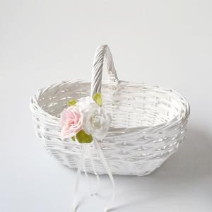 結婚式バスケット(オーバル) ウエディングバスケット、フラワーシャワーカゴ、プチギフト カゴ|jd-bridal