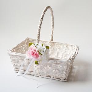 結婚式バスケット(スクエア)フラワーシャワーカゴ、プチギフト カゴ|jd-bridal