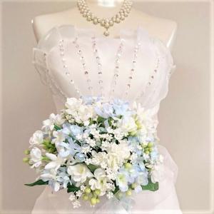 ブライダルブーケ ウェディングブーケ 小花のナチュラルクラッチブーケ シルクフラワー 造花ウェディングブーケ クラッチ jd-bridal