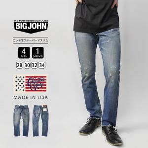 ビッグジョン ジーンズ レア BIG JOHN デニムパンツ CALIFORNIA MADE セルビッジカットオフテーパードスリム アメリカ製 C106M-04 jeans-yamato