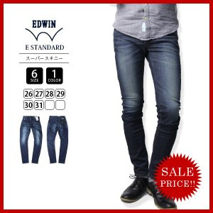 エドウィン EDWIN ジーンズ デニムパンツ E STANDARD スーパースキニー SUPER SKINNY DENIM PANTS ED26-1|jeans-yamato
