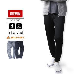 エドウィン EDWIN 暖パン ワイルドファイア WILD FIRE SWEAT PANTS フリース ET5639|jeans-yamato