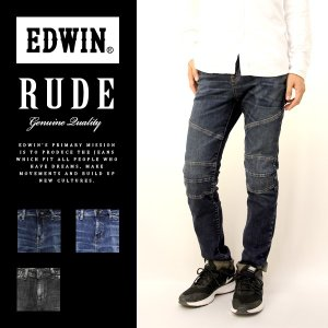 EDWIN エドウィン ルード スキニー RUDE SKINNY バイカー パンツ テーパード スリム タイト デニム ジーンズ パンツ メンズ エドウィン KRU22|jeans-yamato
