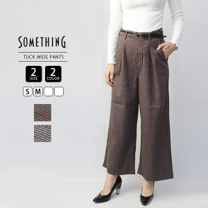 サムシング ワイドパンツ ワイド デニム ベルト付き SOMETHING ジーンズ レディース EDWIN エドウィン エドウイン SN765-2|jeans-yamato