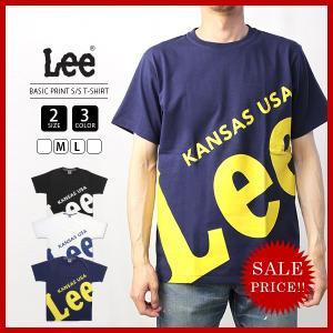 Lee Tシャツ 半袖 リー Tシャツ 半袖 BASIC PRINT T-SHIRT ベーシックプリントTシャツカットソー トップス LT2329-3|jeans-yamato