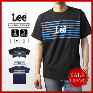 Lee Tシャツ 半袖 リー Tシャツ 半袖 BASIC PRINT T-SHIRT ベーシックプリントTシャツカットソー トップス LT2329-4|jeans-yamato