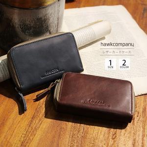 ホークカンパニー カードケース カードケース メンズ レザー 本革 ブランド バレンタイン プレゼント Hawk Company 3432|jeans-yamato