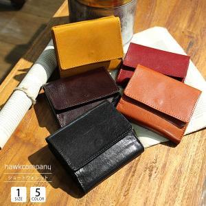 ホークカンパニー 財布 財布 メンズ 二つ折り 日本製 革 小銭入れ 財布 レディース 二つ折り 本革 Hawk Company 7229|jeans-yamato