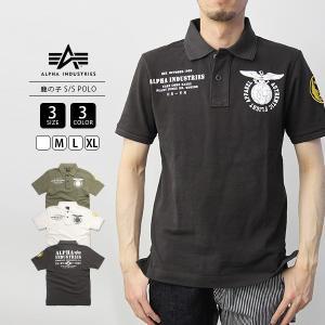 ALPHA ポロシャツ 半袖 メンズ ALPHA INDUSTRIES 鹿の子ポロシャツ アルファインダストリーズ S/S POLO TC1353|jeans-yamato