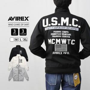AVIREX ジャケット AVIREX アウター アヴィレックス アビレックス WIND GUARD ZIP SHIRT U.S.M.C Avirex Military Camp 6193480|jeans-yamato
