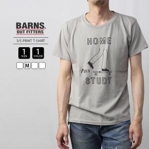 バーンズ Tシャツ 半袖 バーンズアウトフィッターズ メンズ BARNS Tシャツ 半袖 デザインプリント 日本製 国産 BR-6336|jeans-yamato