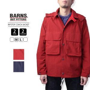 バーンズ ジャケット BARNS ジャケット マウンテンパーカー リップストップコーチジャケット サイクリング BR-7453A|jeans-yamato