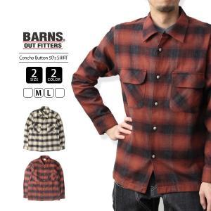 バーンズ チェックシャツ バーンズ アウトフィッターズ BARNS チェックシャツ 長袖 日本製 国産 50S SHIRTS BR-7618|jeans-yamato