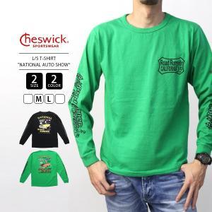 Cheswick Tシャツ 長袖 メンズ チェスウィック Tシャツ ロンT 東洋エンタープライズ NATIONAL AUTO SHOW CH68380|jeans-yamato