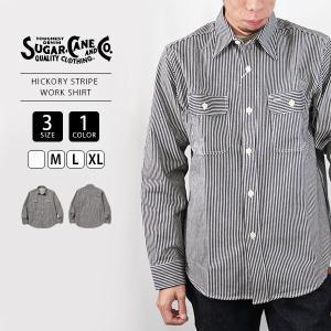 シュガーケーン ワークシャツ SUGAR CANE シャツ 長袖 HICKORY STRIPE L/S WORK SHIRT 東洋エンタープライズ SC27853|jeans-yamato