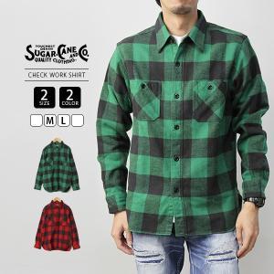 シュガーケーン ネルシャツ SUGAR CANE シャツ 長袖 CHECK WORK SHIRT 東洋エンタープライズ SC28230|jeans-yamato