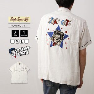 STRAY CATS STYLE EYES コラボ ボーリングシャツ メンズ ストレイキャッツ スタイルアイズ BOWLING SHIRT LIMITED EDITION SE38204 jeans-yamato