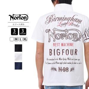 ノートン ポロシャツ NORTON ポロシャツ 服 ポロ バイカー イギリス アームインパクト 半袖 S/S Tee ポロT トップス  192N1204|jeans-yamato