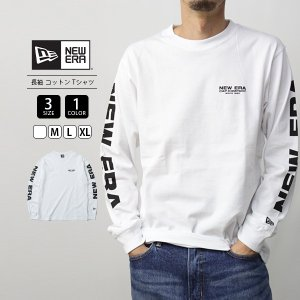 ニューエラ Tシャツ 長袖 メンズ NEW ERA Tシャツ 長袖 ロンT ストリート キャップカンパニー 12108231|jeans-yamato