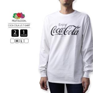 フルーツオブザルーム ロンT コカコーラ コラボ Tシャツ 長袖 FRUIT OF THE LOOM COCA COLA L/S PRINT T-SHIRT 923-301CC2|jeans-yamato
